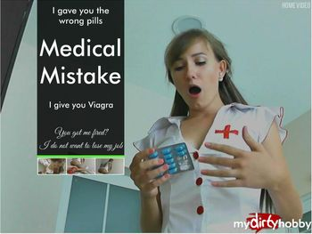 [MyDirtyHobby.com] KatiesClub (aka Angel Desert, desertigl) Medical Mistake [2015 г., stockings, blowjob, cumshot, blonde, nurse, oral, handjob,, 1080p]
